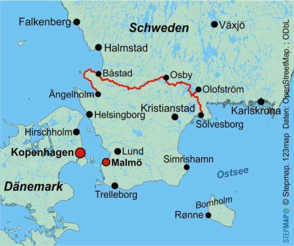Skåneleden Kust til Kust 9783866866393  Conrad Stein Outdoor - Der Weg ist das Ziel  Meerdaagse wandelroutes, Wandelgidsen Zuid-Zweden