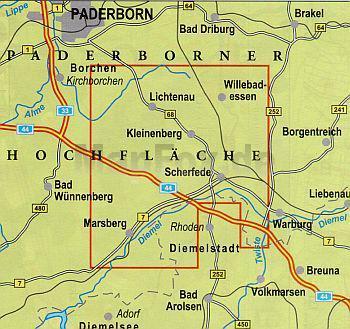 NRW-64  Eggegebirge Südteil | wandelkaart 1:25.000 9783936184228  Geomap / LVA NRW Grüne Reihe  Wandelkaarten Teutoburger Woud & Ostwestfalen