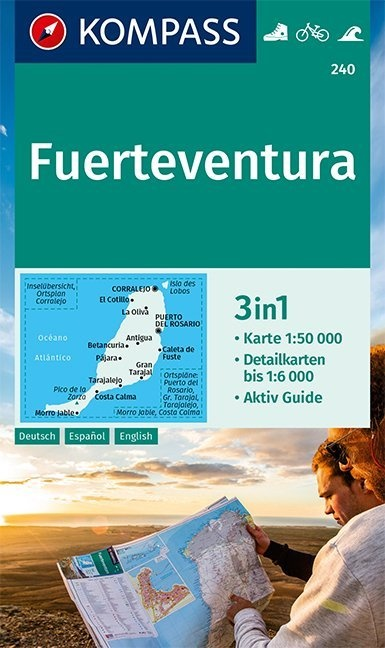 KP-240 Fuerteventura 1:50.000 | Kompass wandelkaart 9783990448731  Kompass Wandelkaarten   Landkaarten en wegenkaarten, Wandelkaarten Fuerteventura