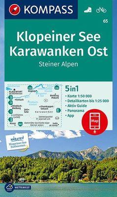 wandelkaart KP-65 Klopeiner See - Karawanken   Kompass 9783990449400  Kompass Wandelkaarten Kompass Oostenrijk  Wandelkaarten Karinthië