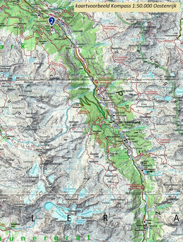 KP-33 Arlberg, Nördliche Verwallgruppe | Kompass wandelkaart 9783990449417  Kompass Wandelkaarten Kompass Oostenrijk  Wandelkaarten Tirol & Vorarlberg