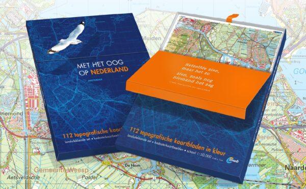 Met het Oog op Nederland | complete set top. kaarten 1:50.000 9789018047979  Reijers Kaartproducties BV   Wandelkaarten Nederland