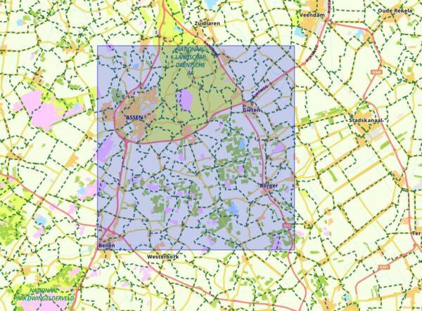 SBB-10  Midden-Drenthe | wandelkaart 1:25.000 9789028703834  Staatsbosbeheer SBB kaart 1:25.000  Wandelkaarten Drenthe