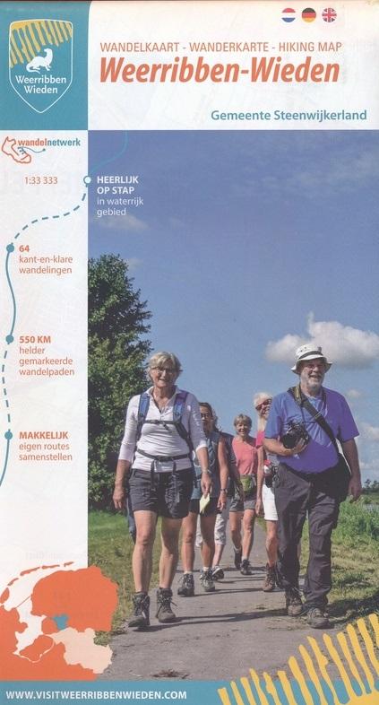 Wandelkaart Weerribben-Wieden 1:33.333 9789082046595  Marketing Oost Wandelnetwerk Overijssel  Wandelkaarten Kop van Overijssel, Vecht & Salland