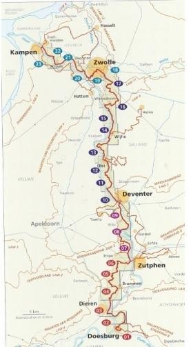 SP-11  Hanzestedenpad | Streekpad 9789492641083  Wandelnet Streekpaden  Meerdaagse wandelroutes, Wandelgidsen Gelderse IJssel en Achterhoek, Kop van Overijssel, Vecht & Salland