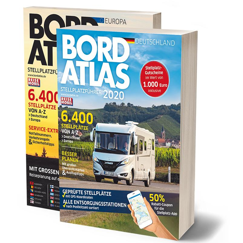 Bordatlas 2020 | campergids Duitsland/Europa 9783928803878  Dolde Medien   Campinggidsen, Op reis met je camper Europa