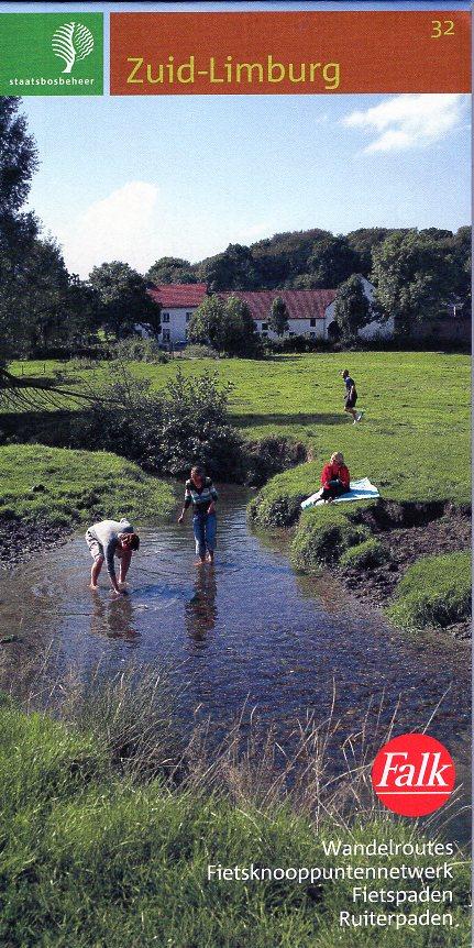 SBB-32  Zuid-Limburg | wandelkaart 1:25.000 9789028703919  Staatsbosbeheer SBB kaart 1:25.000  Wandelkaarten Maastricht en Zuid-Limburg