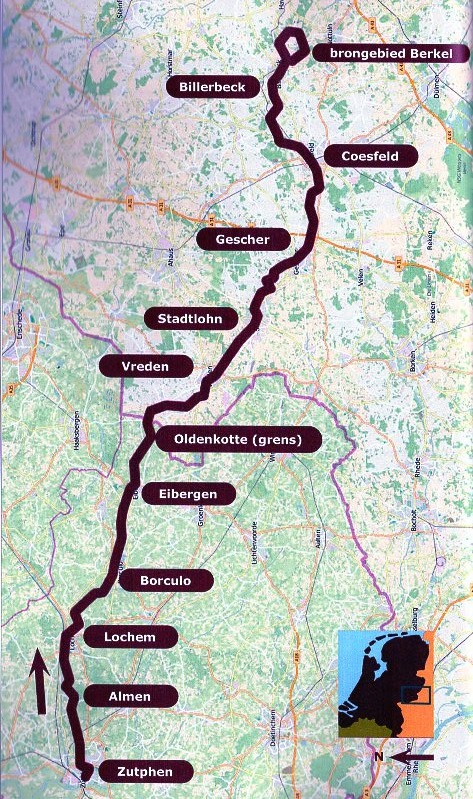 Het Berkelpad | wandelgids 9789491899409 Dolf Logemann Anoda   Meerdaagse wandelroutes, Wandelgidsen Gelderse IJssel en Achterhoek, Münsterland, Bentheim