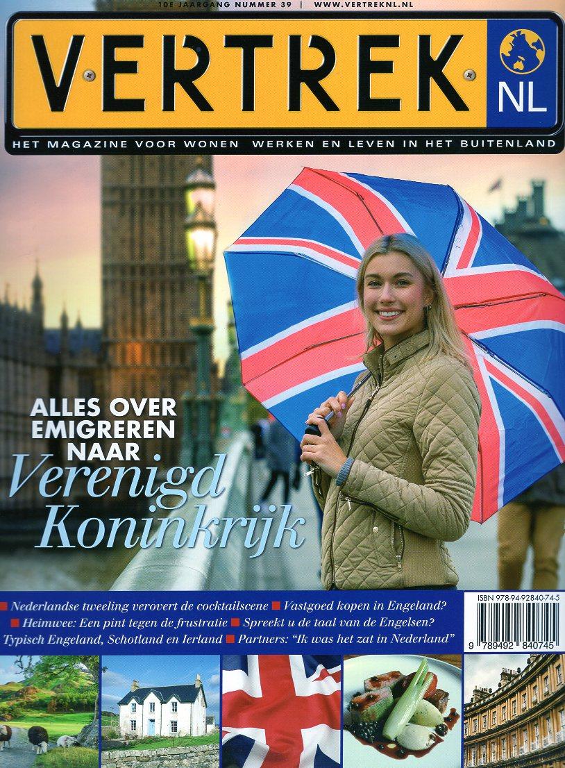 VertrekNL 39 Verenigd Koninkrijk 9789492840745  Personalia   Reisgidsen Britse Eilanden