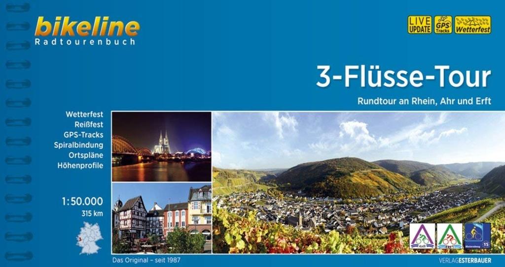 Bikeline 3-Flüsse-Tour | fietsgids 9783850008594  Esterbauer Bikeline  Fietsgidsen Aken, Keulen en Bonn