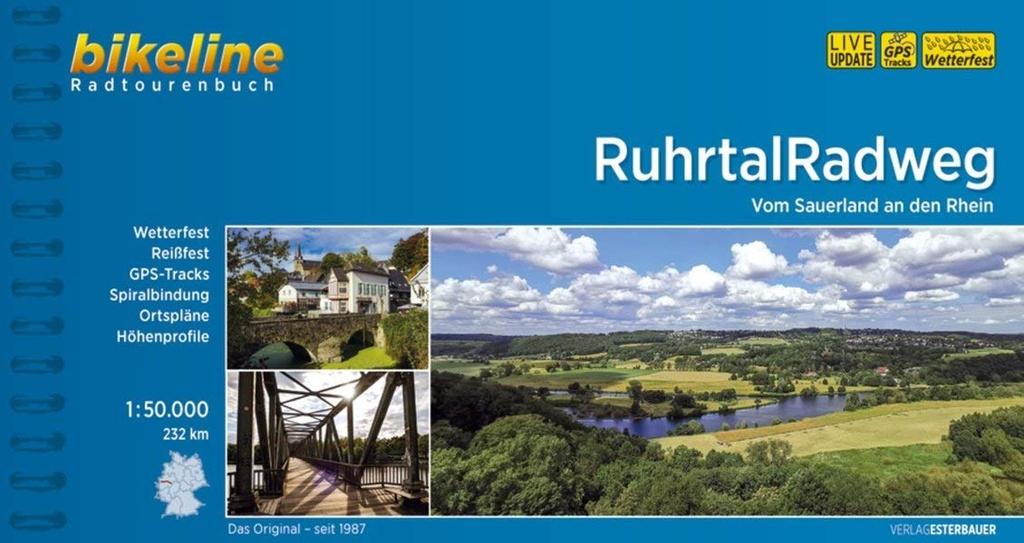Bikeline Ruhrtal-Radweg | fietsgids 9783850008778  Esterbauer Bikeline  Fietsgidsen Ruhrgebied, Sauerland