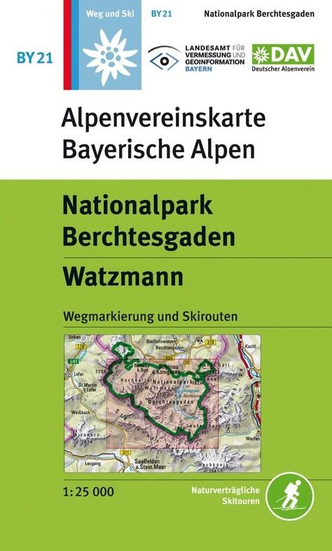 BY-21 Nationalpark Berchtesgaden 1:25.000 Alpenvereinskarte 9783937530956  Deutscher AlpenVerein Alpenvereinskarten  Wandelkaarten Beierse Alpen