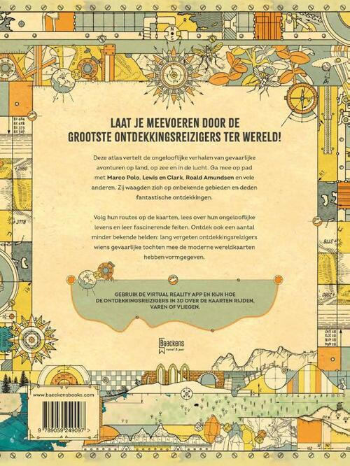 Atlas van de allergrootste reizen 9789059249097 Philip Steele TDM   Kinderboeken, Wegenatlassen Wereld als geheel