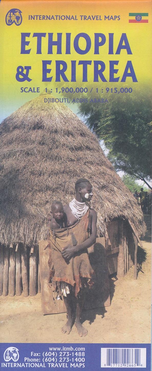 Ethiopia | landkaart, autokaart 1:1.900.000 9781771292665  ITM   Landkaarten en wegenkaarten Ethiopië, Somalië, Eritrea