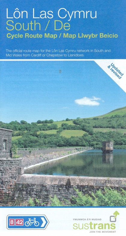 NN08 South: A  Lon Las Cymru South 9781910845486  Sustrans Nat. Cycle Network  Fietskaarten Wales
