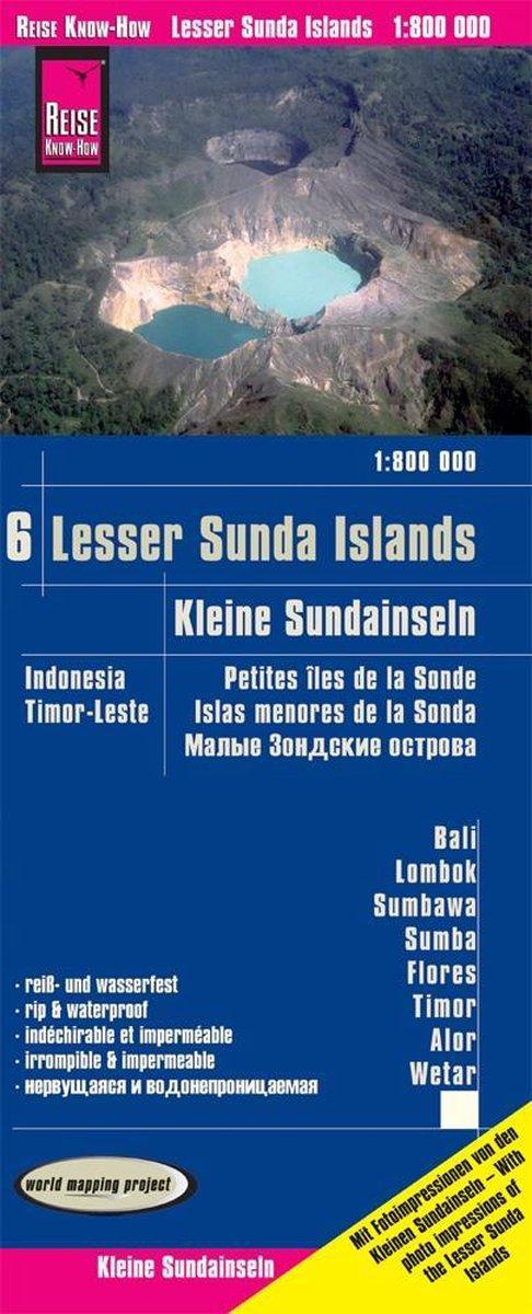 landkaart, wegenkaart Kleine Sunda eilanden 1:800.000 9783831774319  Reise Know-How WMP Polyart  Landkaarten en wegenkaarten Indonesië