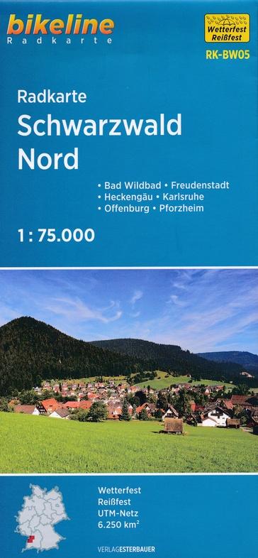 RK-BW05  Schwarzwald Nord 1:75.000 9783850006033  Esterbauer Bikeline Radkarten  Fietskaarten Zwarte Woud