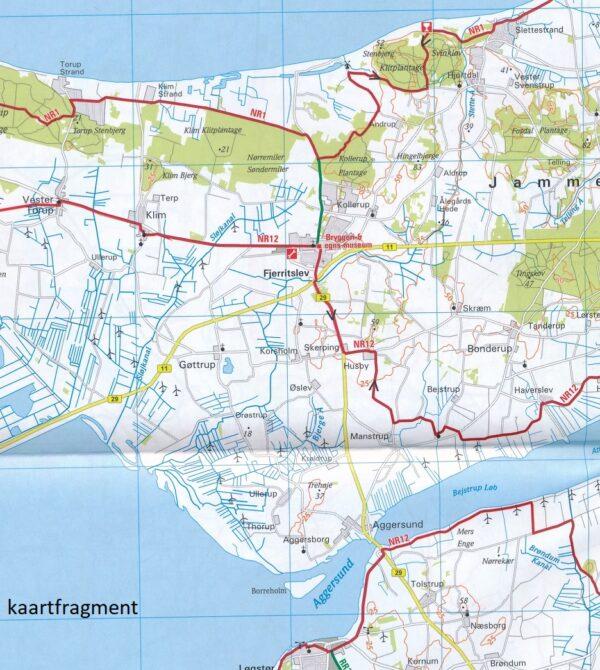 ADFC-DK1 Noord-Jutland fietskaart 1:150.000 9783870739409  ADFC / BVA Radtourenkarten 1:150.000  Fietskaarten Denemarken