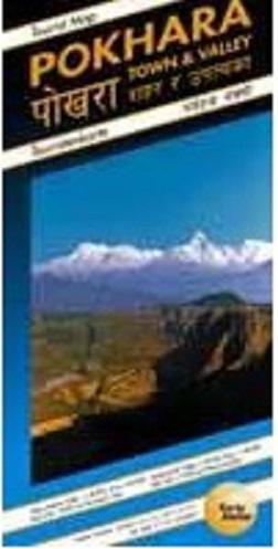 Pokhara Town + Valley 1:9.000/20.000/50.000 9783906593128  Karto Atelier   Wandelkaarten Nepal