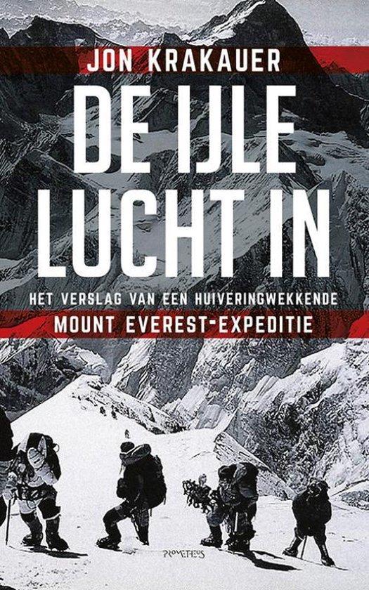 De IJle Lucht In | Jon Krakauer 9789044644593 Jon Krakauer Prometheus   Klimmen-bergsport Nepal