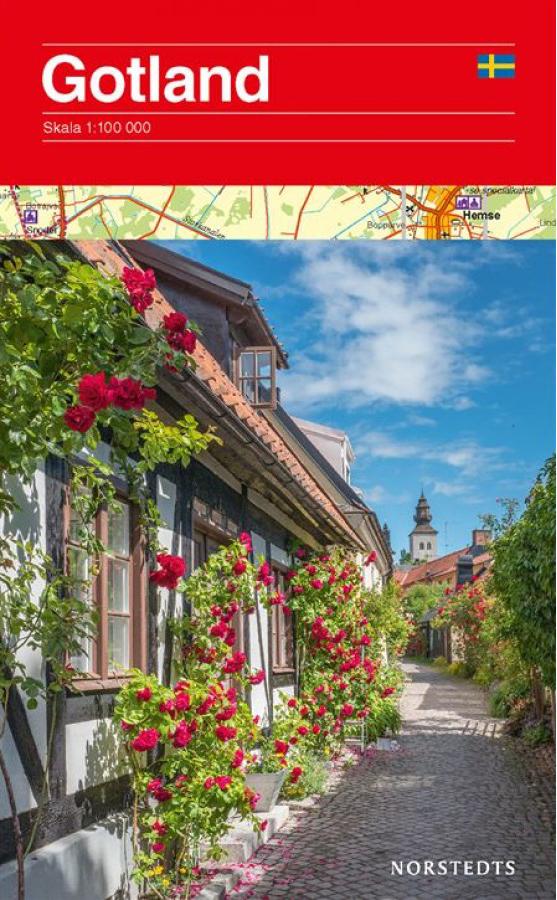 Gotland 1:100.000 9789113077222  Kartförlaget - Lantmäteriet Fritidskartan  Fietskaarten, Landkaarten en wegenkaarten Zuid-Zweden