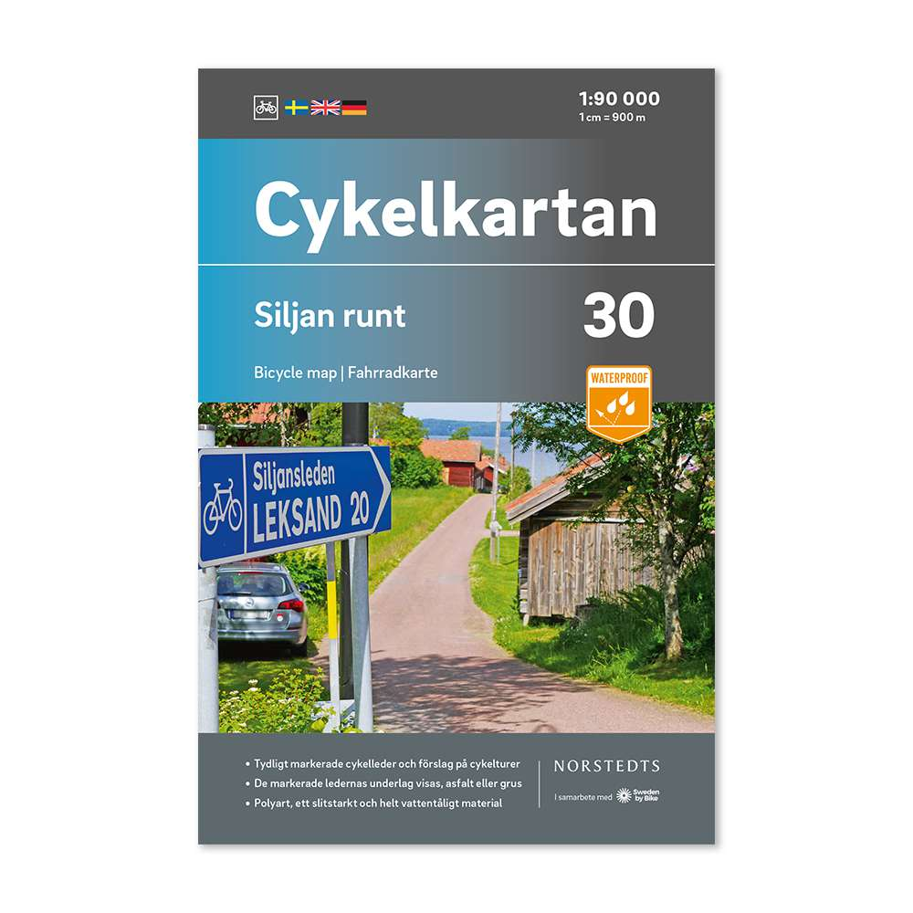 NC-30 Siljan runt 1:90.000 9789113106366  Norstedts Cykelkartan Fietskaarten Zweden  Fietskaarten Zweden boven Uppsala