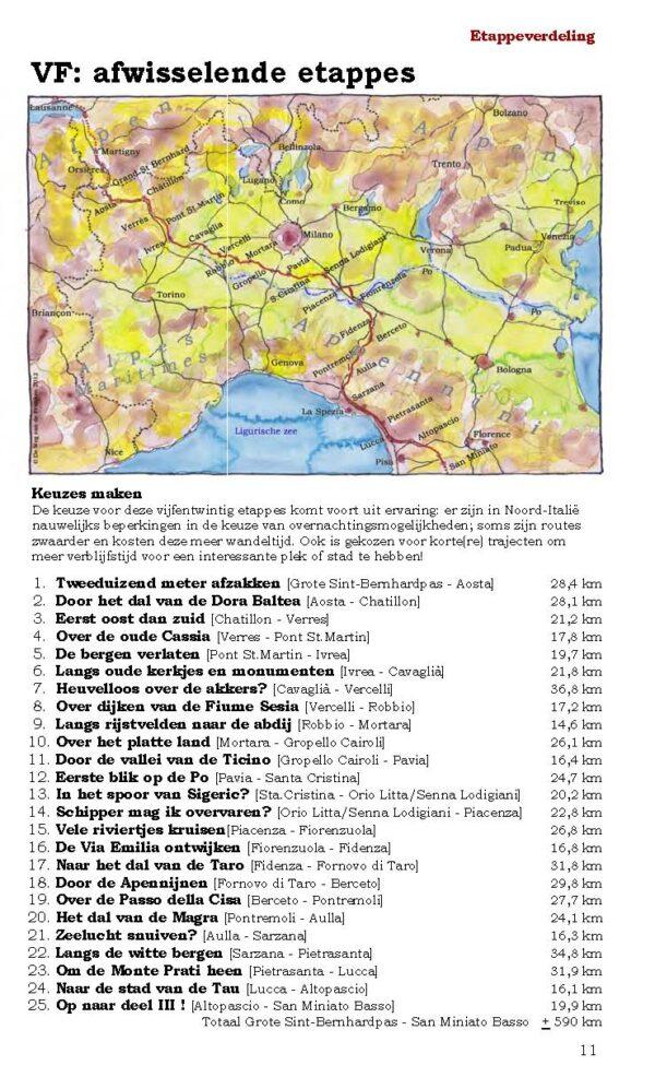 De weg van de Franken (II) 9789491899089 Ben Teunissen Forte   Lopen naar Rome, Wandelgidsen Europa, Noord-Italië