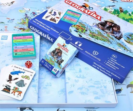 Geografika - Ontdek de wereld | bordspel 4068077545998  Unik Play   Kinderboeken, Overige artikelen Wereld als geheel