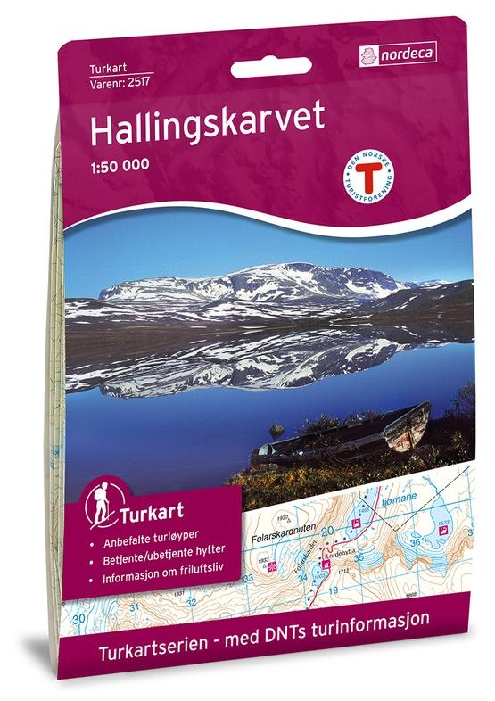 UG-2517  Hallingskarvet | topografische wandelkaart 1:50.000 7046660025178  Nordeca / Ugland Turkart Norge 1:50.000  Wandelkaarten Zuid-Noorwegen