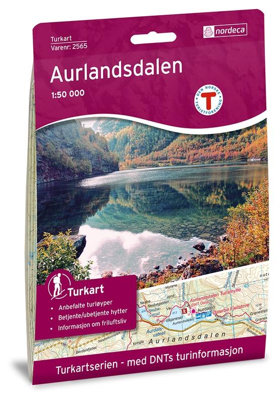 UG-2565  Aurlandsdalen | topografische wandelkaart 1:50.000 7046660025659  Nordeca / Ugland Turkart Norge 1:50.000  Wandelkaarten Zuid-Noorwegen