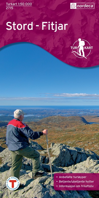 UG-2715  Stord Fitjar   topografische wandelkaart 1:50.000 7046660027158  Nordeca / Ugland Turkart Norge 1:50.000  Wandelkaarten Zuid-Noorwegen