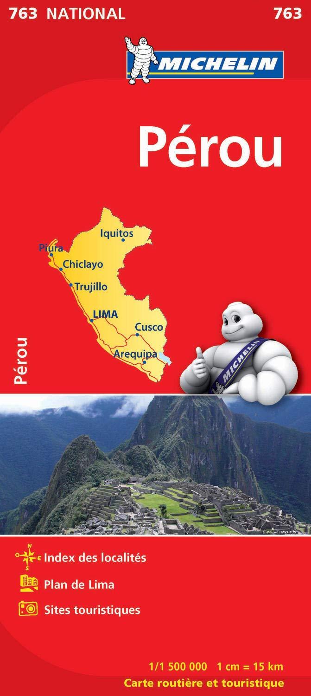 763  Peru 1:1.500.000 9782067173408  Michelin   Landkaarten en wegenkaarten Peru
