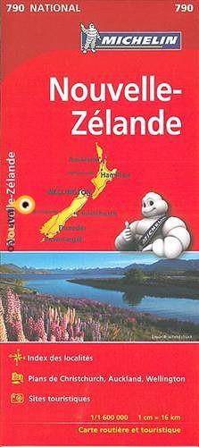 790 Nieuw-Zeeland 1:1.600.000 Michelinkaart 9782067217171  Michelin   Landkaarten en wegenkaarten Nieuw Zeeland