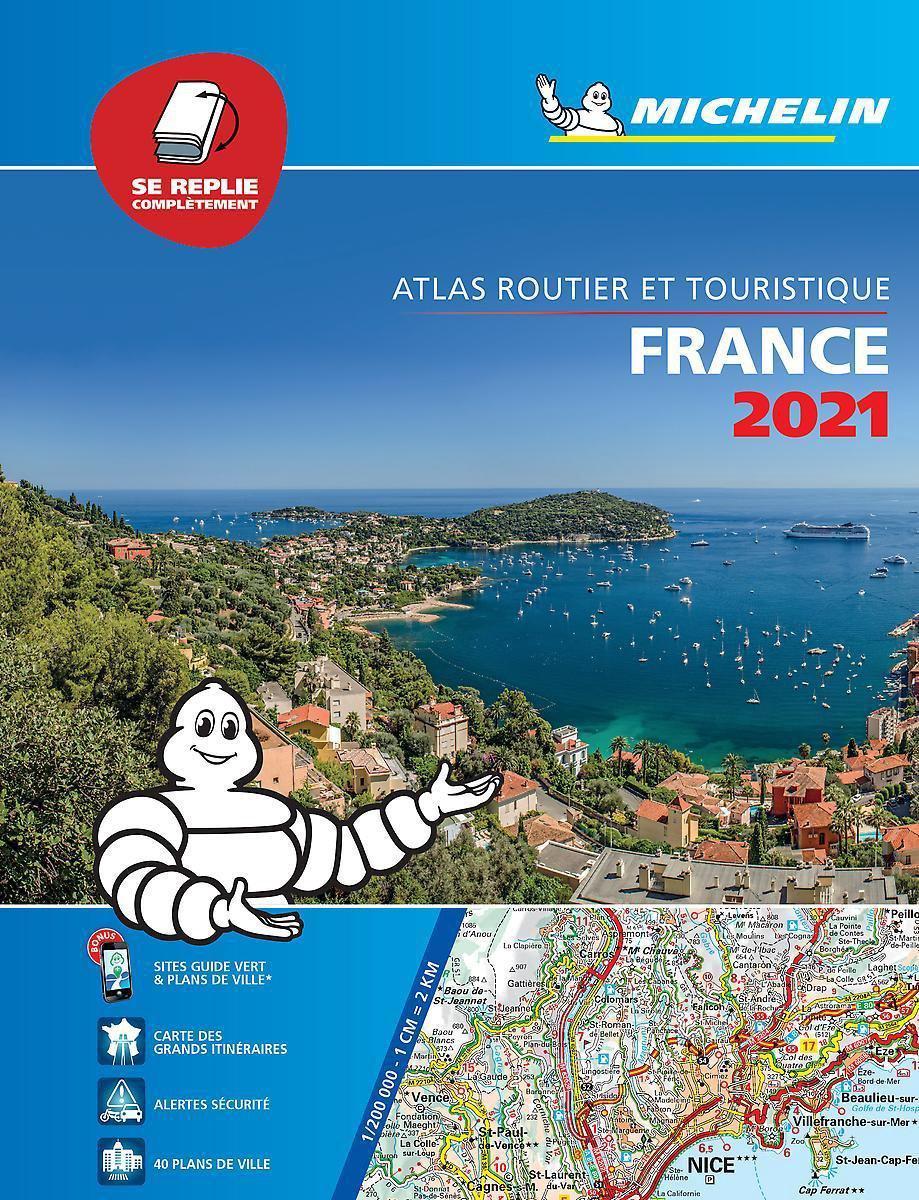 France Tourisme 1/250.000 (A4 multiflex) 2021 9782067248977  Michelin Wegenatlassen  Wegenatlassen Frankrijk
