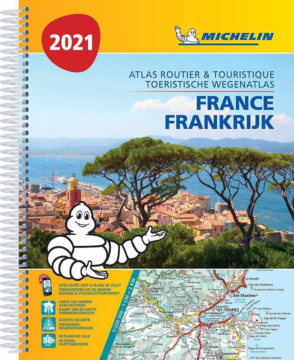 Frankrijk Wegenatlas 1/200.000 spiraalband 2021 / Michelin 9782067249011  Michelin Wegenatlassen  Wegenatlassen Frankrijk