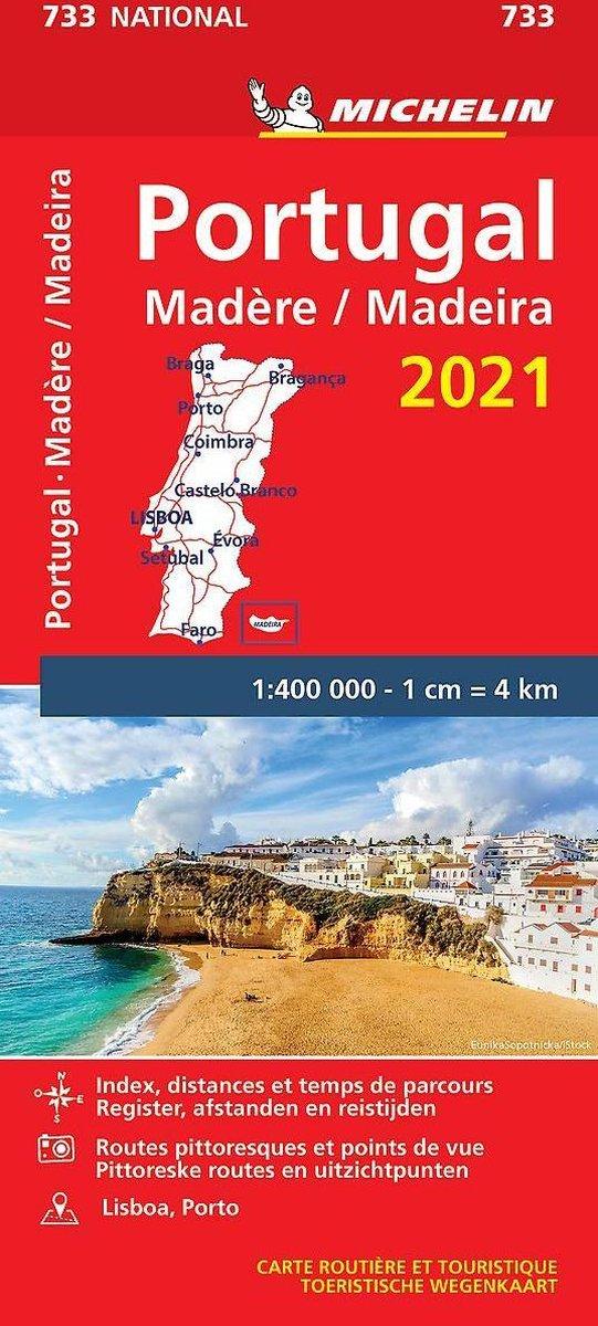 733 Portugal 2021   Michelin  wegenkaart, autokaart 1:400.000 9782067249554  Michelin Michelinkaarten Jaaredities  Landkaarten en wegenkaarten Portugal