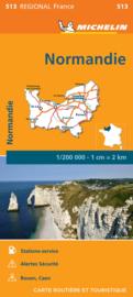 513  Normandie | Michelin  wegenkaart, autokaart 1:200.000 9782067249660  Michelin Regionale kaarten  Landkaarten en wegenkaarten Normandië