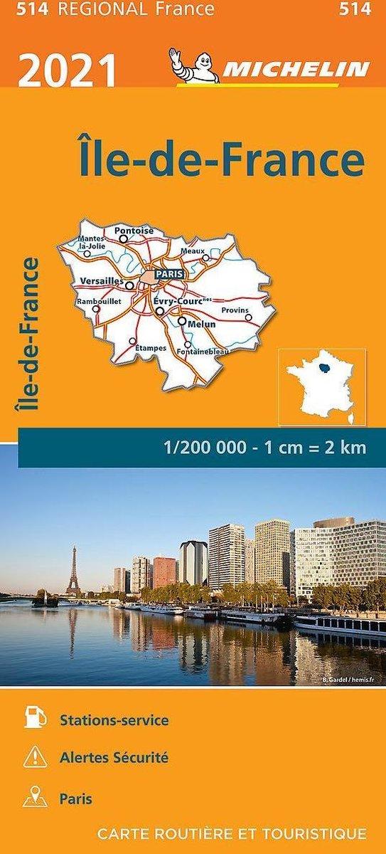 514 Île-de-France   Michelin  wegenkaart, autokaart 1:200.000 9782067249677  Michelin Regionale kaarten  Landkaarten en wegenkaarten Parijs, Île-de-France