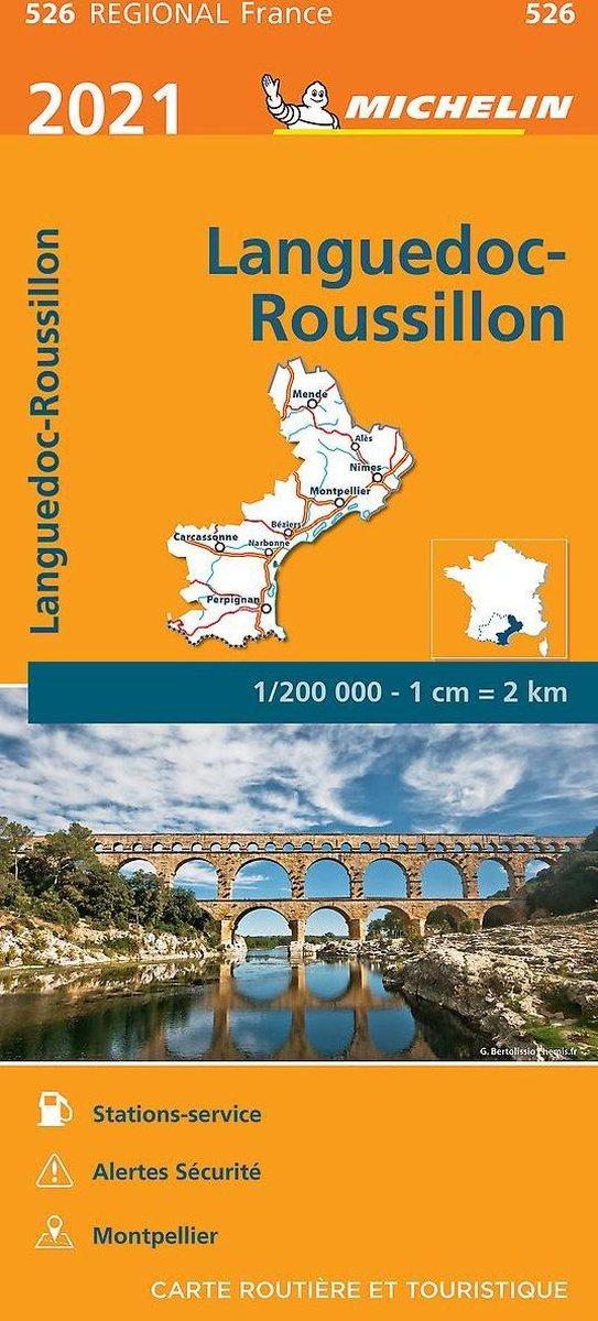 526 Languedoc-Roussillon | Michelin  wegenkaart, autokaart 1:200.000 9782067249790  Michelin Regionale kaarten  Landkaarten en wegenkaarten Cevennen, Languedoc