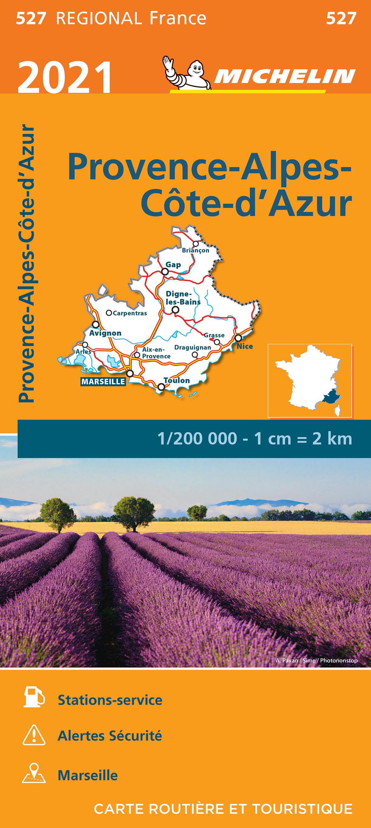 527 Provence-Alpes-Côte-d Azur  | Michelin  wegenkaart, autokaart 1:200.000 9782067249806  Michelin Regionale kaarten  Landkaarten en wegenkaarten Côte d'Azur, Provence, Marseille, Camargue