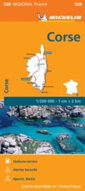 528  Corse | Michelin  wegenkaart, autokaart 1:200.000 9782067249813  Michelin Regionale kaarten  Landkaarten en wegenkaarten Corsica