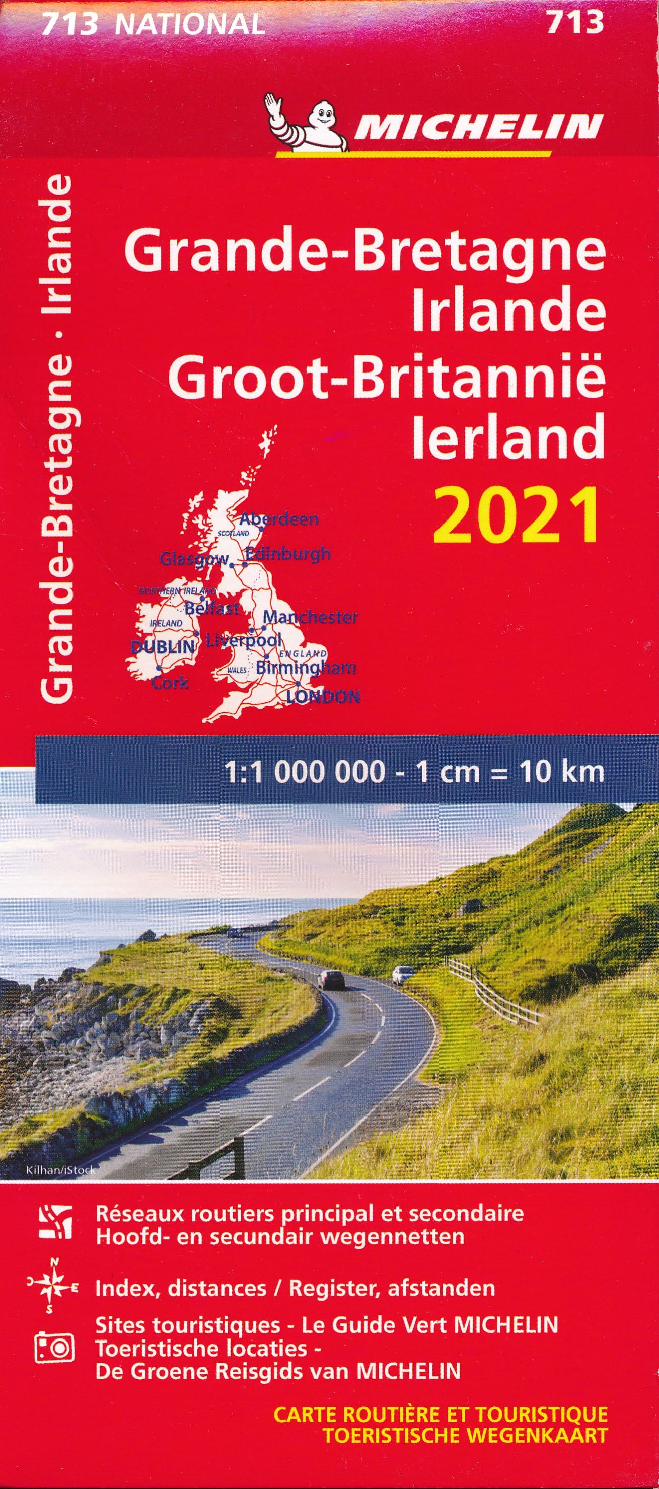 713 Groot-Brittannië 1:1.000.000 2021 9782067249950  Michelin Michelinkaarten Jaaredities  Landkaarten en wegenkaarten Groot-Brittannië