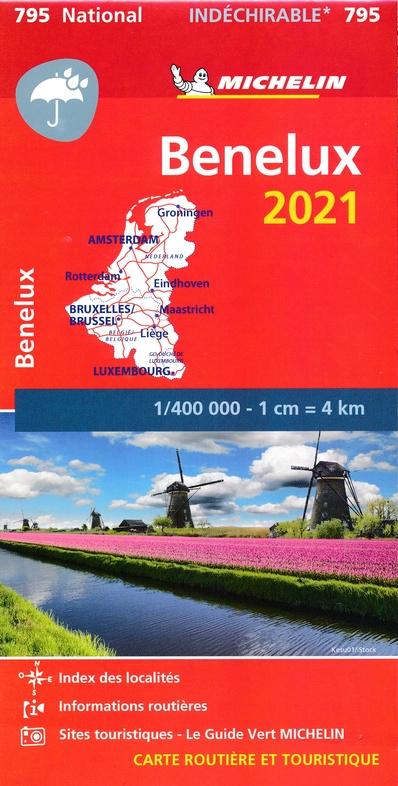 795  Benelux 2021 (indéchirable) 9782067250093  Michelin Michelinkaarten Jaaredities  Landkaarten en wegenkaarten Benelux