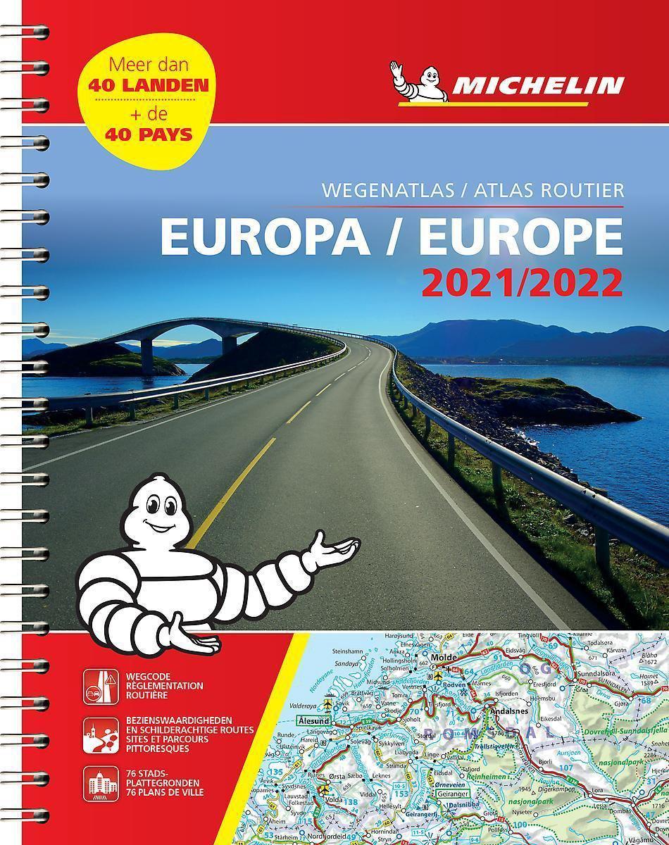 136 Europa Wegenatlas 2021 (spiraalband) 9782067250116  Michelin Wegenatlassen  Wegenatlassen Europa
