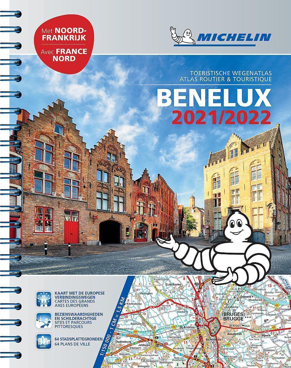 Benelux Wegenatlas 2021 9782067250123  Michelin Wegenatlassen  Wegenatlassen Benelux