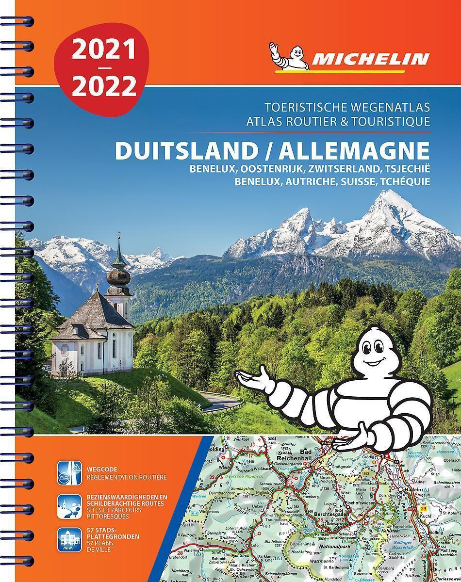 462 Duitsland, Benelux, Oostenrijk,Tsjechië 2021 9782067250130  Michelin Wegenatlassen  Wegenatlassen Duitsland