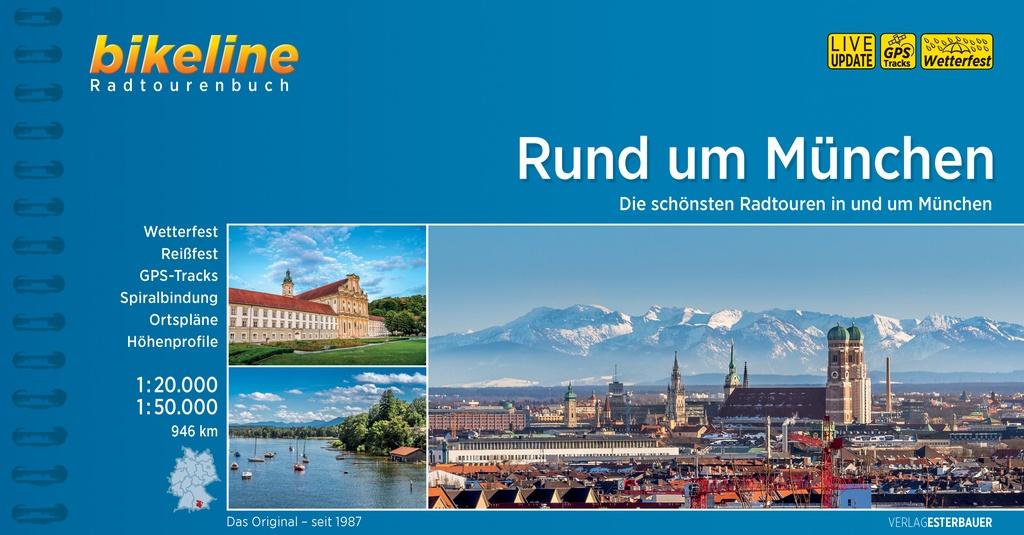 Bikeline Rund um München Radatlas| fietsgids 9783850001045  Esterbauer Bikeline  Fietsgidsen München en omgeving