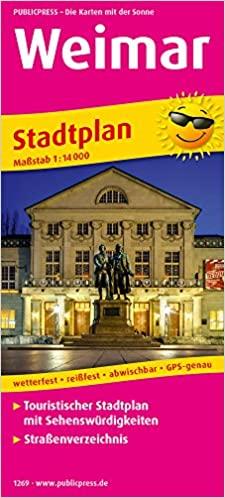 Weimar 1:14.000 9783961322695  Publicpress   Stadsplattegronden Thüringen, Weimar, Rennsteig