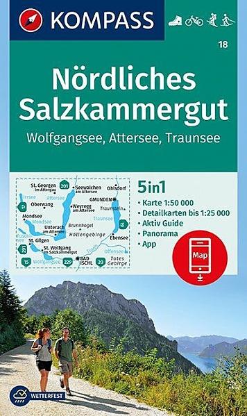 KP-18 Nördliches Salzkammergut | Kompass wandelkaart 9783990444238  Kompass Wandelkaarten Kompass Oostenrijk  Wandelkaarten Salzburg, Karinthië, Tauern, Stiermarken