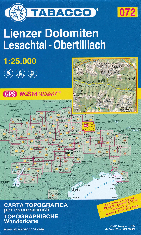 TAB-072 Lienzer Dolomiten | Tabacco wandelkaart 9788883151224  Tabacco Tabacco 1:25.000  Wandelkaarten Osttirol